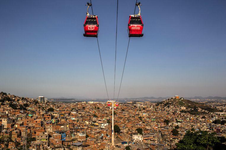 Een kabelbaan in Rio de Janeiro. Beeld NYT