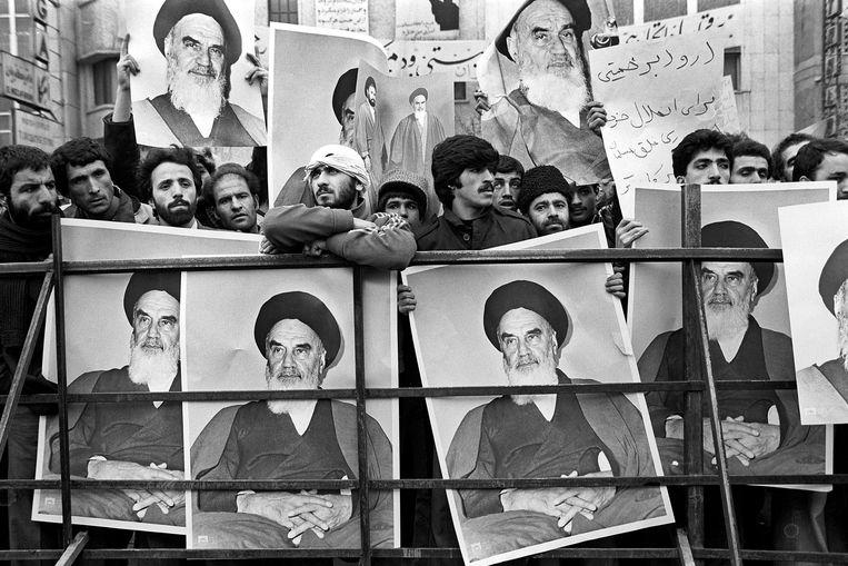 Veertig jaar geleden ontketende ayatollah Khomeini een Islamitische Revolutie. Oppositie werd niet geduld. Beeld Kaveh Kazemi / Getty Images