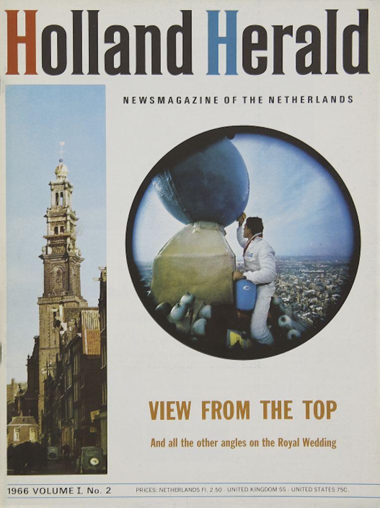 De omslag van de eerste uitgave van de Holland Herald. Beeld KLM