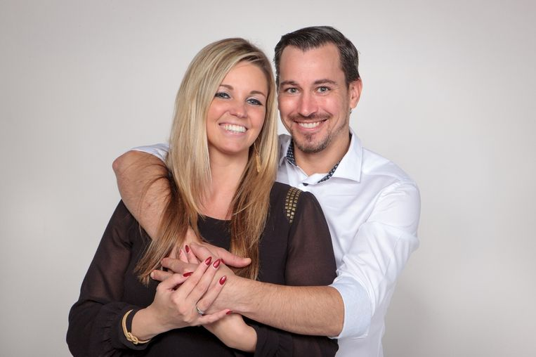 Kaylee De Kegel en haar verloofde Jürgen