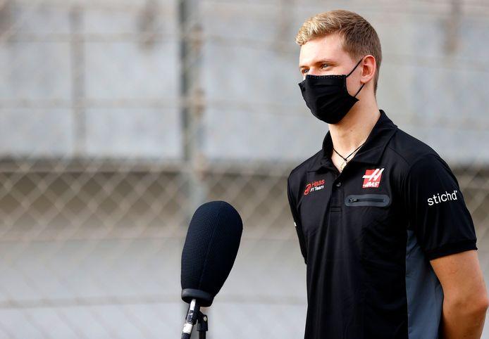 Mick Schumacher tijdens zijn voorstelling bij Haas.