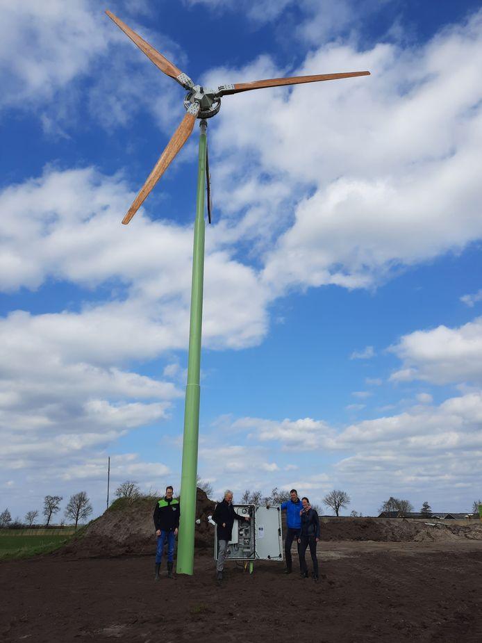 Ter illustratie: een voorbeeld van een kleine windmolen.