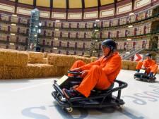 Scheuren met een crazy kart is de nieuwste attractie in de Arnhemse Koepelgevangenis