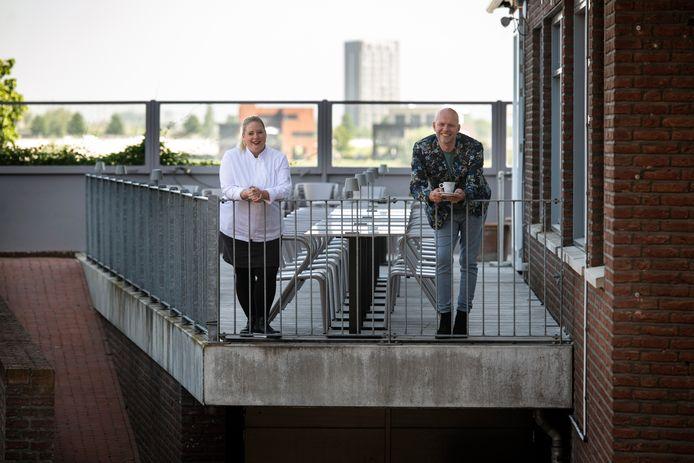 Eigenaar Sebastiaan Nijhuis en chef Sibrecht Benning van het nieuwe restaurant Nacional, Food for Thought aan de Waalkade.