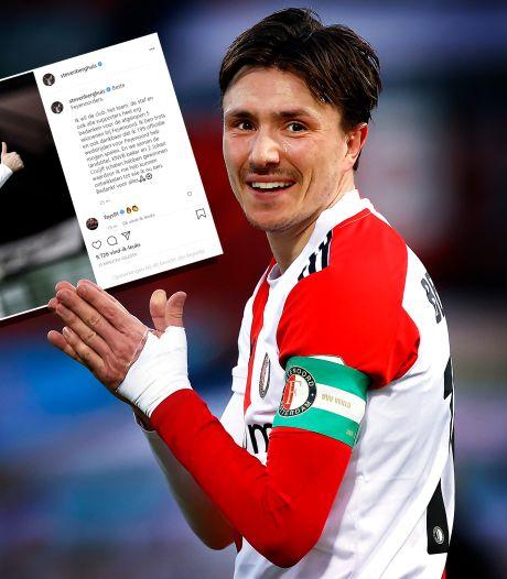 Berghuis bedankt Feyenoord en fans: 'Trots dat ik 199 wedstrijden voor Feyenoord heb mogen spelen'
