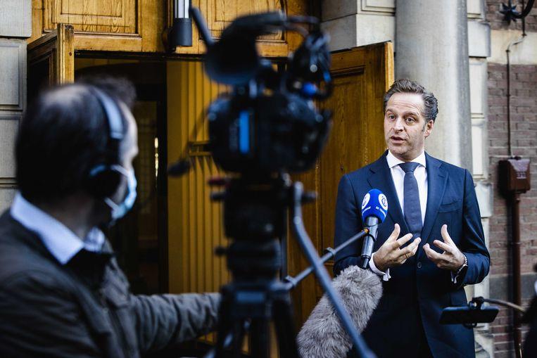 De Nederlandse minister van Volksgezondheid Hugo De Jonge. Beeld ANP