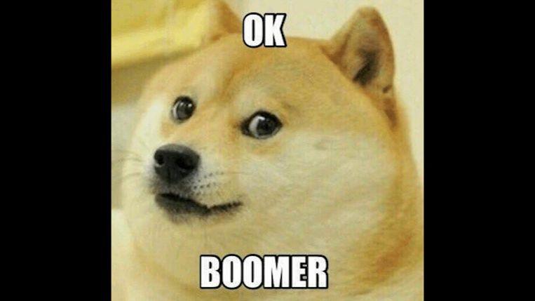 'OK Boomer' begon als een meme. Beeld rv