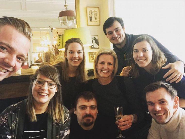 V.l.n.r.: Nick, Tine, Sally, Ben, Veerle, Nicolas, Evelien en Mathias