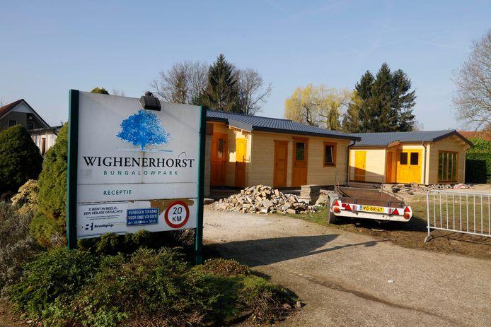 De ingang van het huisjespark van Wighenerhorst.