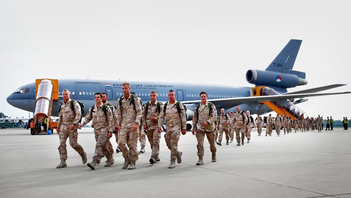 Ter illustratie: militairen na terugkomst uit Afghanistan