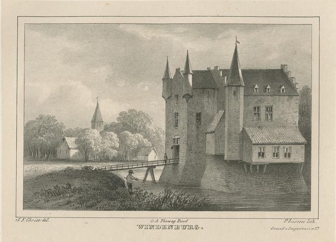 Het in 1837 gesloopte Slot Windenburg bij Dreischor.