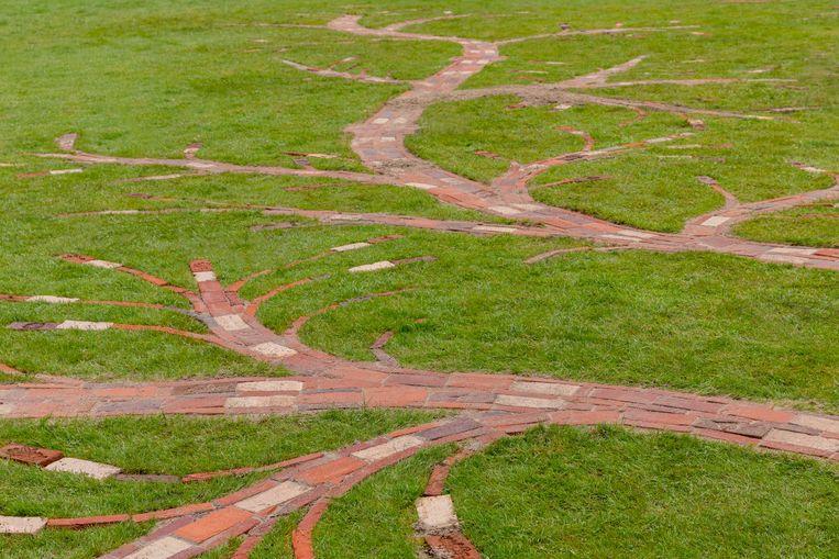 Jennifer Tee: Respire, the world begins with trees, 2021 (detail) Beeld Django van Ardenne