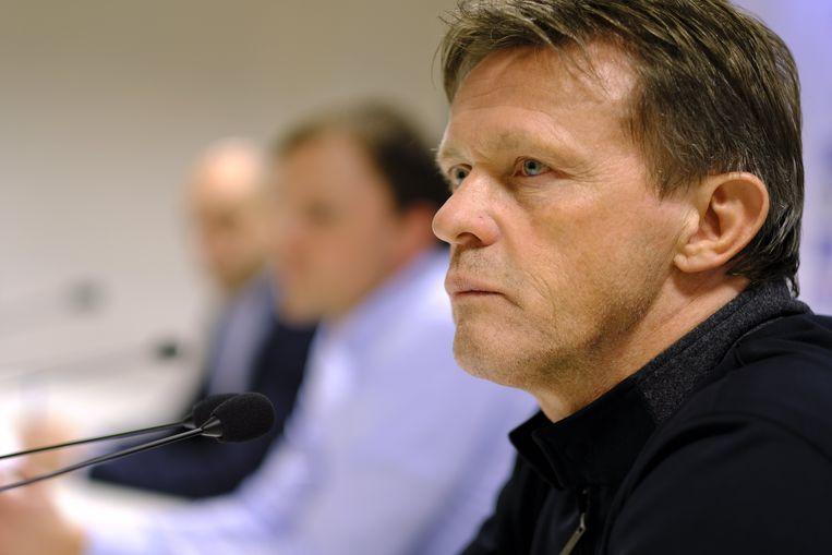 Vercauteren in februari 2019 bij zijn voorstelling als trainer van OH Leuven.