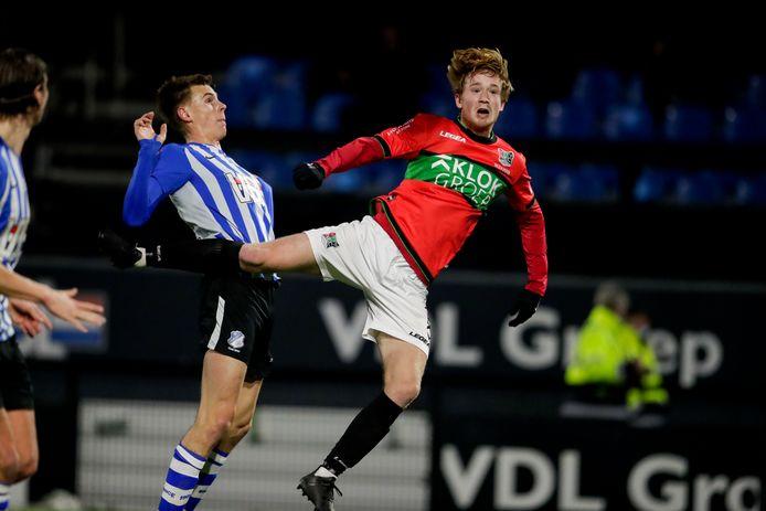 Lorenzo van Kleef of FC Eindhoven, Thomas Beekman of NEC
