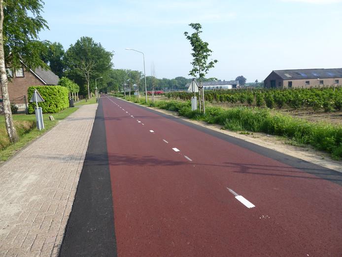 Het fietspad op de Molenwijkseweg moet opnieuw. Foutje met het asfalt.