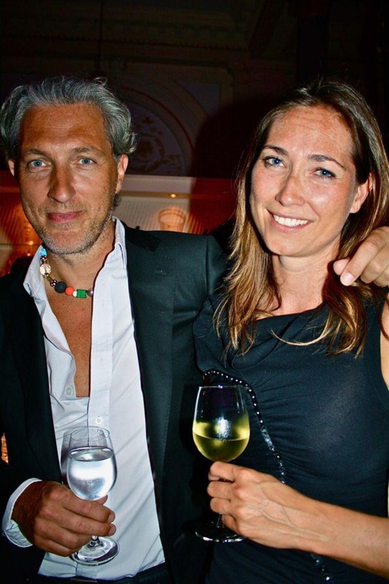 Designer Marcel Wanders met goede vriendin Merel.<br /> Beeld