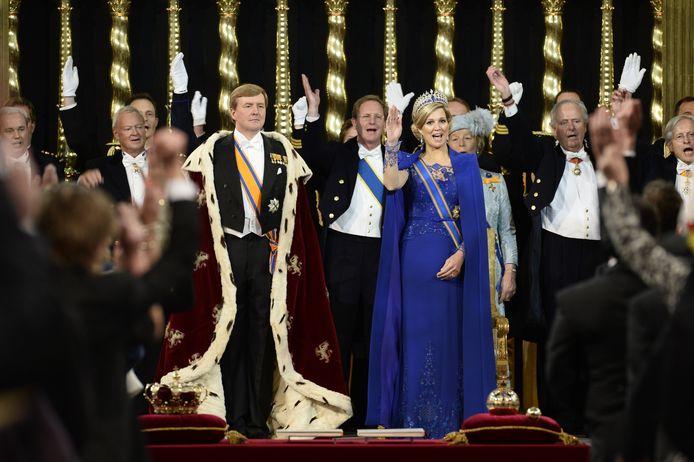 Willem Alexander bij zijn inhuldiging tot Koning.