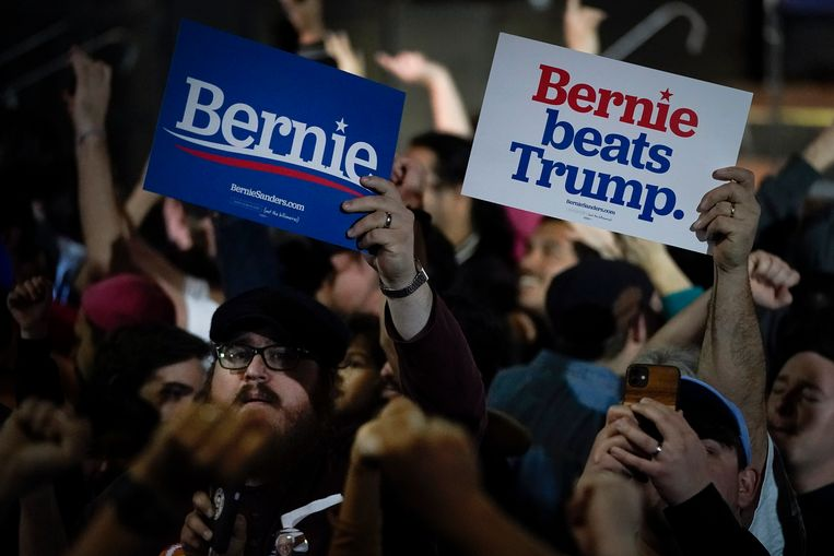 Aanhangers van Bernie Sanders Beeld Getty Images