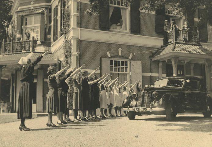 Westerhelling, het kindertehuis dat op 1 augustus 1941 door de NSB in gebruik werd genomen.