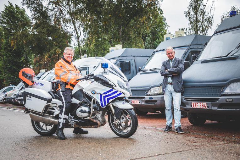 Schoonbroers/flikken Rudy Van den Eede en Guy Bontinck.