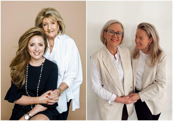 Moeder Kitty en dochter Debora van Gassan Diamonds en het duo Ryan en Anne van Mooi! Company.