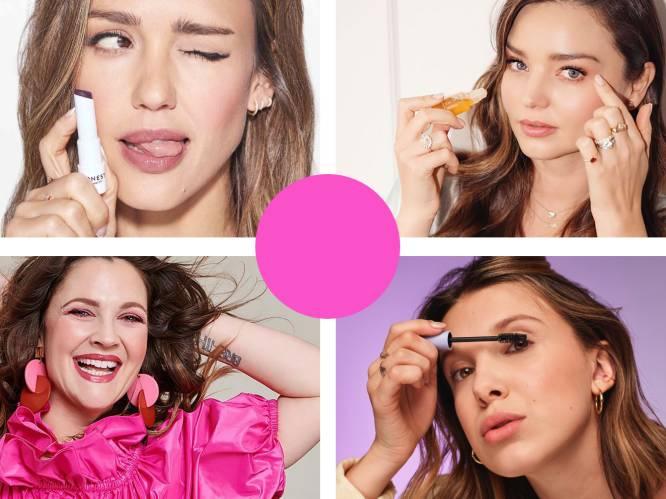 """Beautyredactrice Sophie test of de beautyproducten van 5 celebrity's de hype en het geld waard zijn. """"De fond de teint ruikt een beetje naar verf"""""""