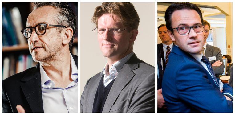 Peter Vandermeersch, Koen Clement en Frederik Delaplace. Beeld .