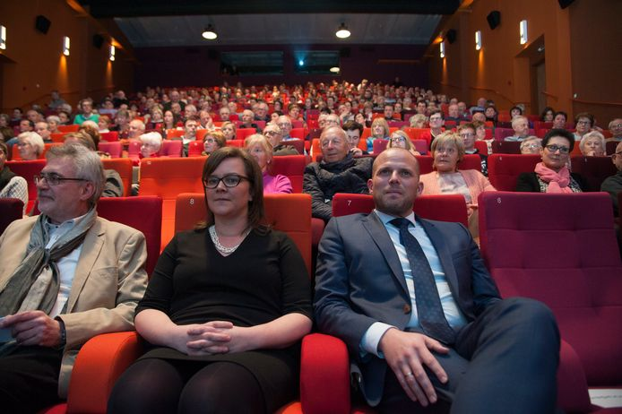 Archiefbeeld: In 2018 was alles nog koek en ei: Theo Francken en N-VA-schepen Annelien Van Der Gucht samen in Wetteren.
