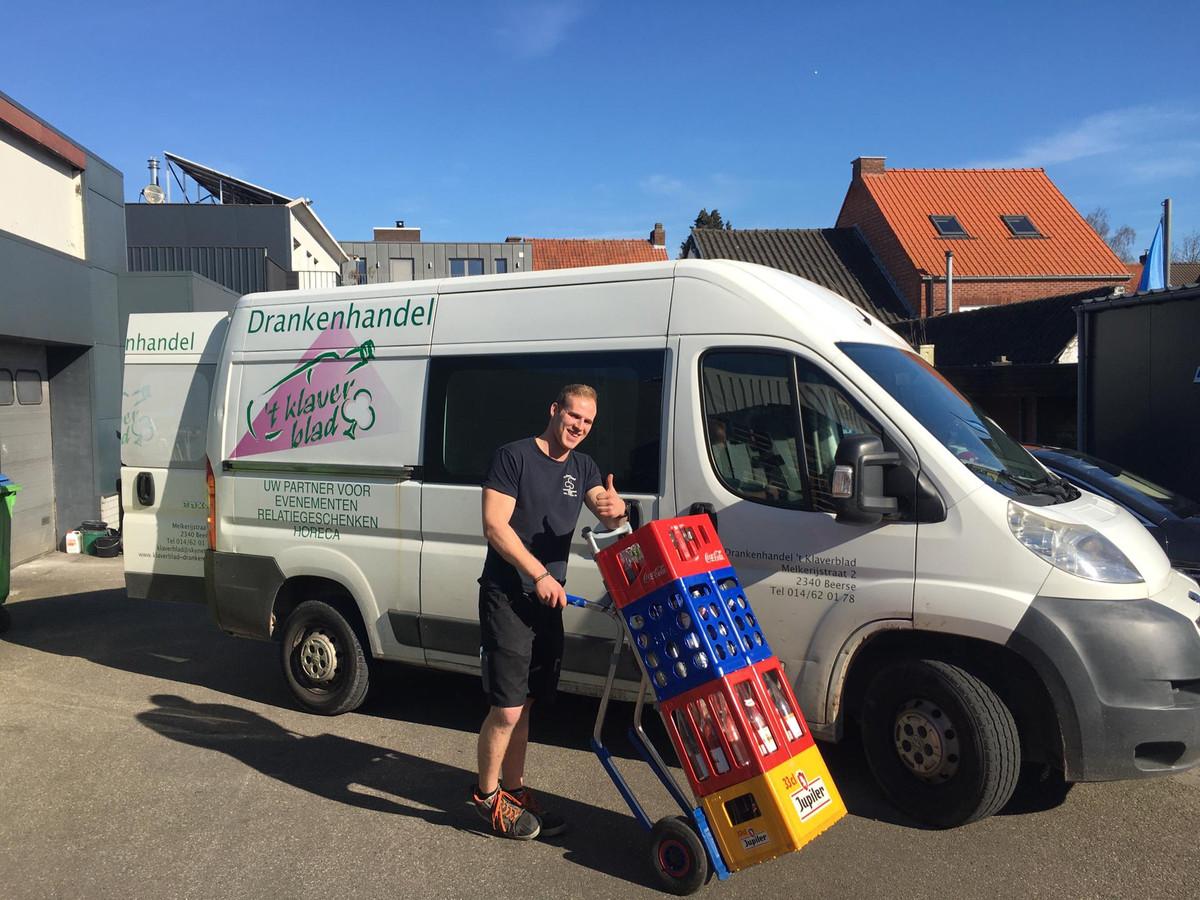 Werknemer Jeroen Peeters van 't Klaverblad in Beerse.