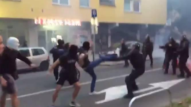 Voetbal een feest? Maribor-hooligans gaan politie te lijf vlak voor CL-duel