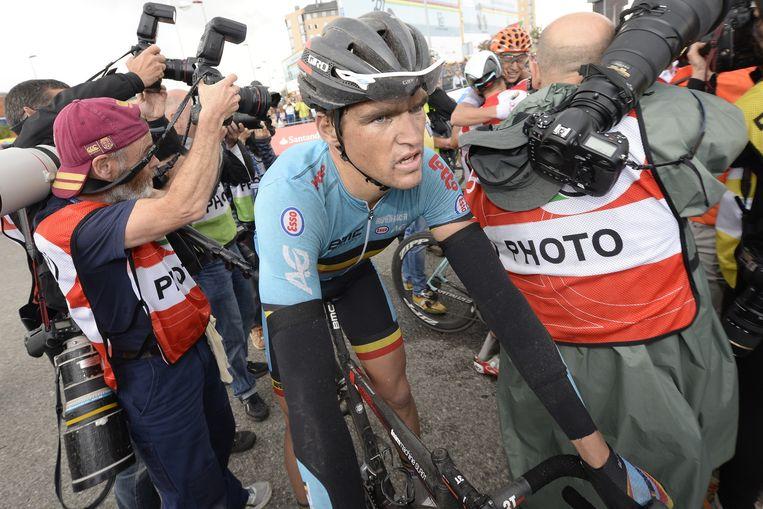 Greg Van Avermaet werd de eerste Belg op de vijfde plaats, Philippe Gilbert eindigde zevende Beeld BELGA