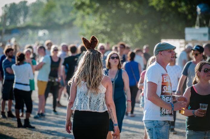 Bezoekers tijdens een eerdere editie van het festival Down the Rabbit Hole.