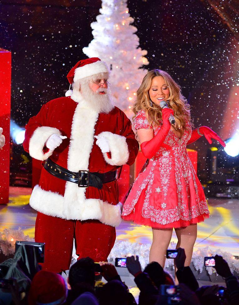 Mariah Carey's All I Want for Christmas is You haalde in 2016, 2018 en 2019 de eerste plaats in de Singles Top 100. Beeld FilmMagic