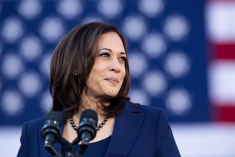 Het ambt van vicepresident was niet wat Kamala Harris voor ogen had, toen ze in2019aan haar campagne begon. Beeld AFP