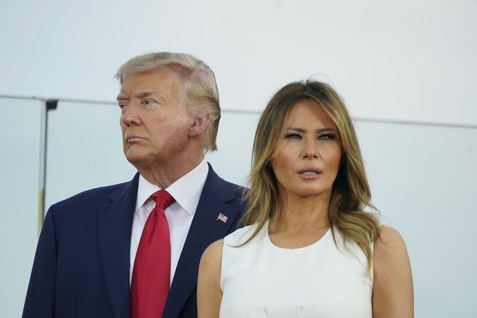 Donald et Melania Trump lors des célébrations du 4 juillet.