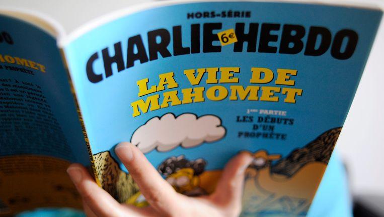 Een Mohammed-special van Charlie Hebdo uit januari 2013 Beeld EPA