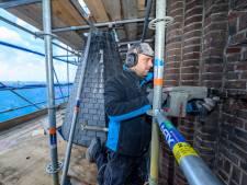 Werk aan toren 'kathedraal' van Langeraar goed te zien én te horen