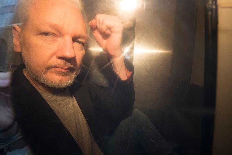 Julian Assange, oprichter van de omstreden website WikiLeaks, wordt mogelijk op korte termijn uitgeleverd aan de Verenigde Staten. Beeld EPA