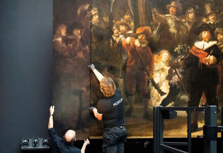 Bekijk dit weekend de hele Nachtwacht. Beeld Reinier Gerritsen/ Rijksmuseum