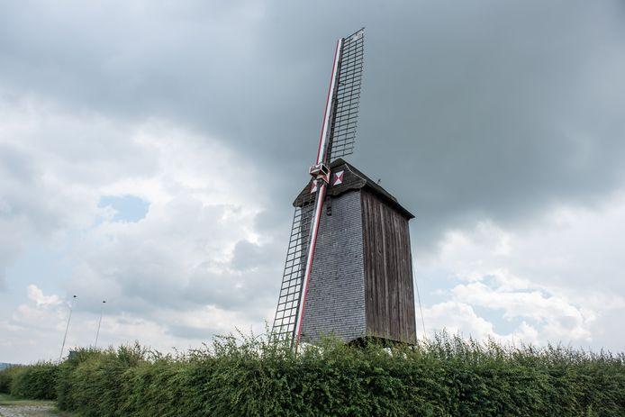 De beschermde windmolen is na een foutgelopen manoeuvre twee wieken kwijtgeraakt.