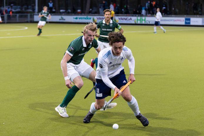 Hockey wedstrijd HC Tilburg - Rotterdam  Op deze foto: Rik Sprengers