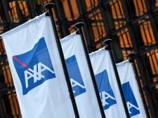Les syndicats mènent une action devant le siège d'Axa à Bruxelles