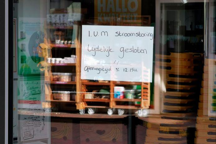 Winkels in Ede gaan later open vanwege de stroomstoring