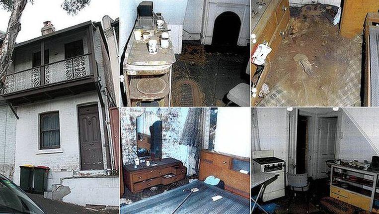 Huis en interieur van de overleden vrouw Beeld NSW Police Force