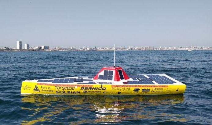 Nog nooit stak een autonome boot de oceaan over.
