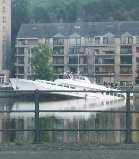 Le yacht Wallonia a coulé au fond de la Meuse à Huy