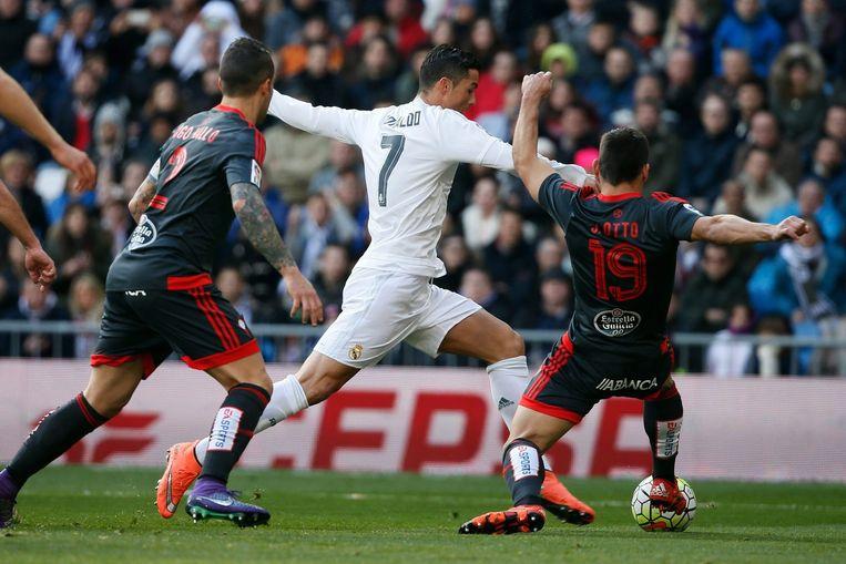 Ronaldo aan de bal. Beeld EPA