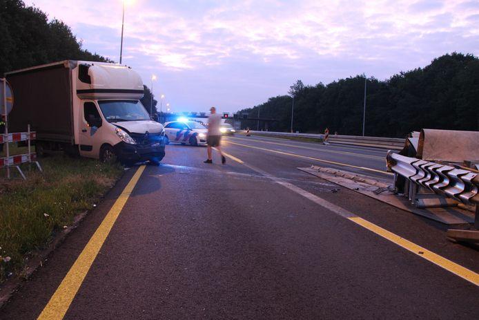 Misse boel weer op de A1 bij Holten, waar toch al werkzaamheden plaatsvinden