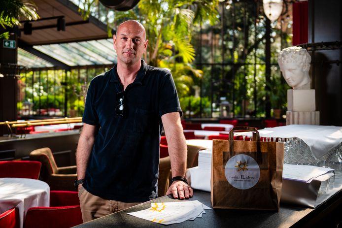 Wim Van Der Borght in zijn restaurant Danieli il Divino.