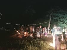 Politie beëindigt illegaal bosfeest Heumensoord